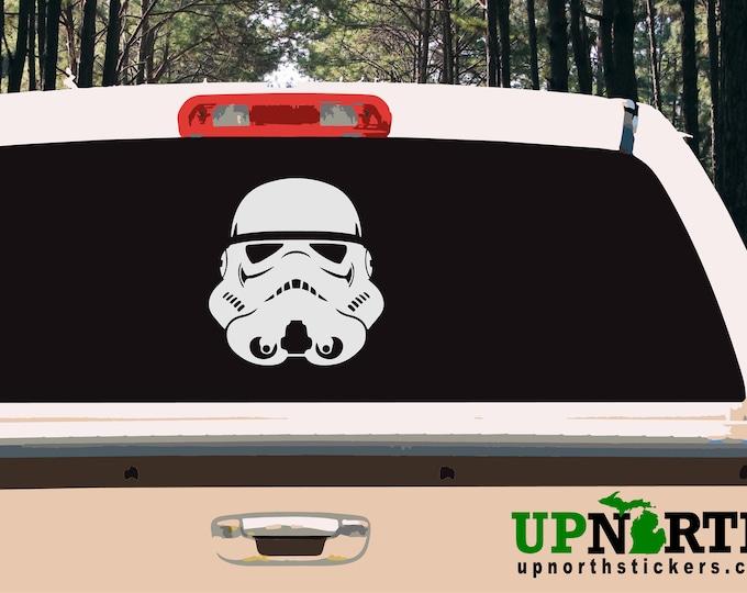 Storm Trooper Helmet - Custom Wall or Vehicle Vinyl Decal - Free Shipping