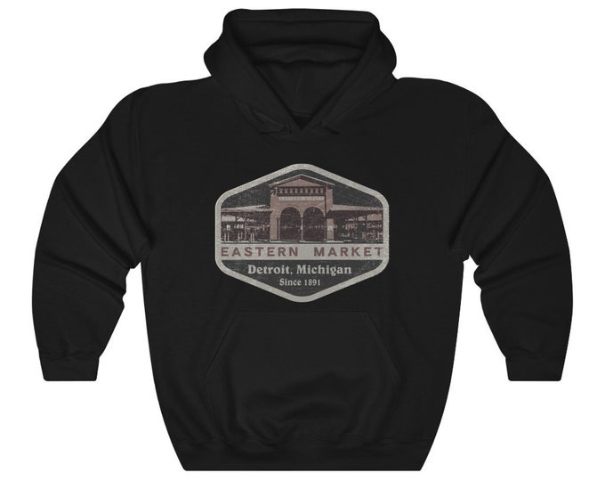 UpNorth Hoodies - Eastern Market - Detroit Michigan - Farmers Market - Vintage Print