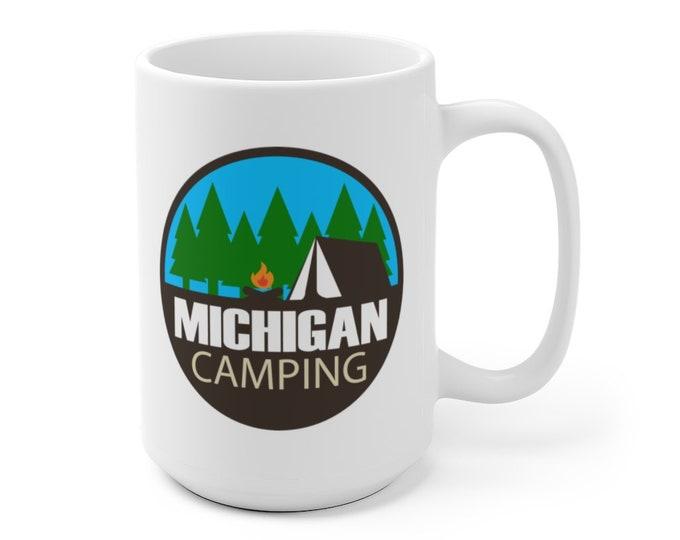 Ceramic Mug - Michigam Camping Circle. - 11 oz or 15 oz