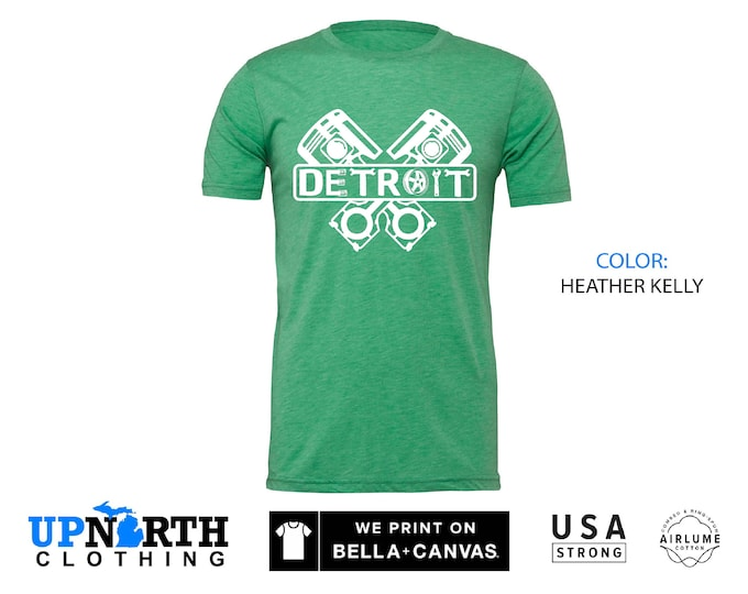 UpNorth Tee - Detroit Engine  - Detroit Michigan Shirt - Free Shipping