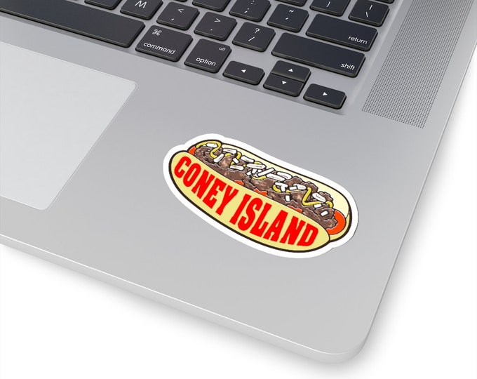 UpNorth Stickers - Coney Island Hot Dog - Michigan Hot Dog - 4 Sizes to Choose From