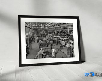 Photo Print - Chrysler Dodge Corp. Factory - Detroit 1942 - Detroit Michigan - FREE SHIPPING