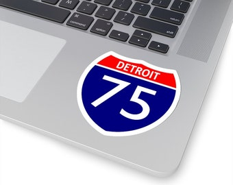 UpNorth Stickers - I-75 Detoit (Michigan Highway Sign)