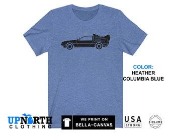 UpNorth Tee - Deloreon Car T-Shirt - Time Machine Shirt - Free Shipping