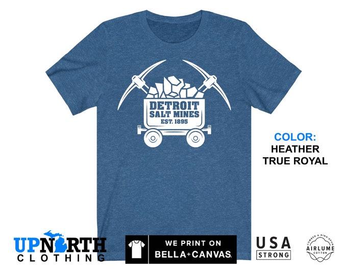 UpNorth Tee - Detroit Salt Mines - Mine Cart - Detroit Michigan Shirt - Free Shipping