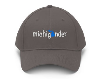 Adjustable Hat - Michigander (blue/white)