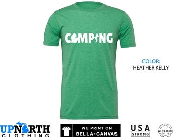 UpNorth Tee - Michigan Camping - Great Lakes State - Michigan Shirt - Unisex T-Shirt - Free Shipping