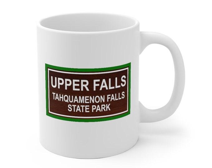 Ceramic Mug - Michigan State Parks - UPPER FALLS - 2 Sizes