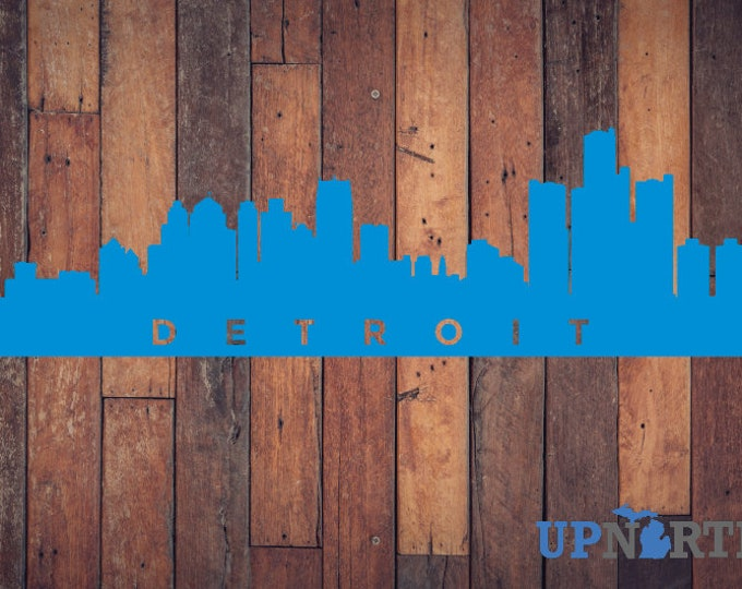 Detroit Skyline - V2 - Vinyl Decal - Personalize it for Free