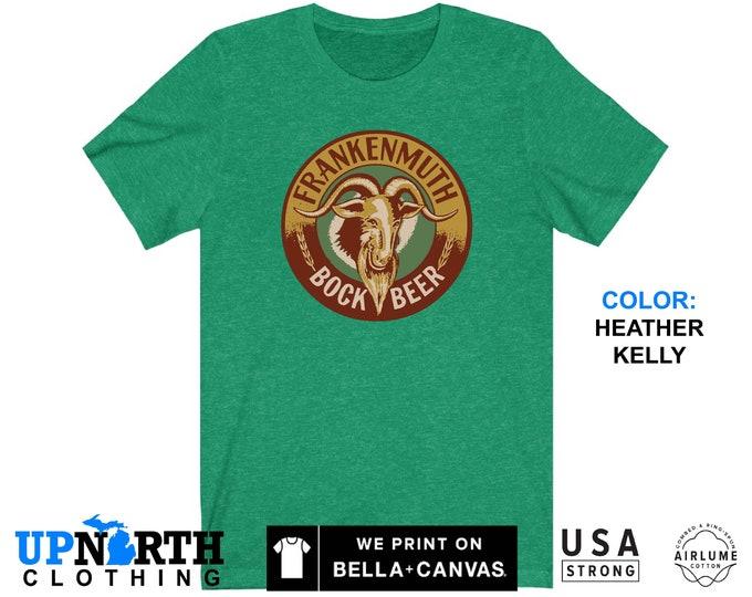 UpNorth Tee - Frankenmuth Bock Beer - Vintage Brewery - Vintage Michigan Beer Shirt - Free Shipping