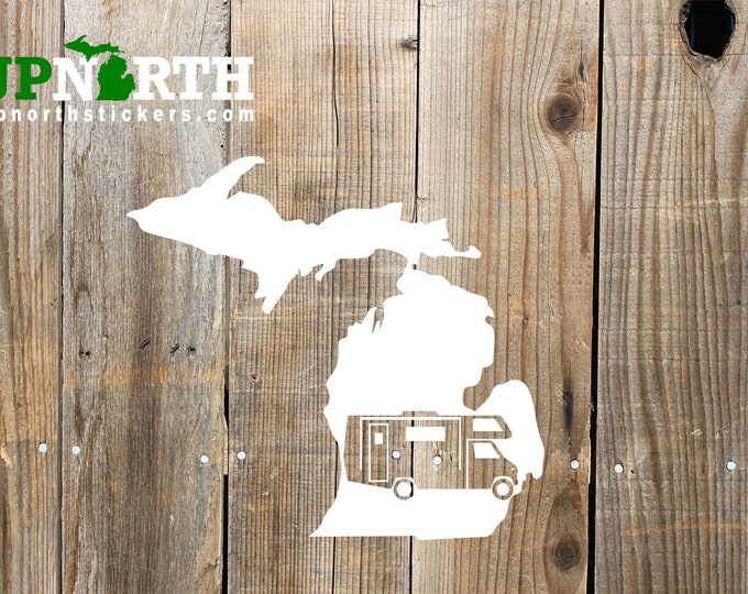 Michigan RV - Motor Home) - Single Color Vinyl Decal - MULTIPLE SIZES