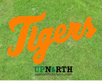 Tigers - Cursive Text Vinyl Decal - Detroit Baseball - Tigers Decal - Multiple Sizes - FREE SHIPPING