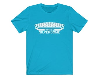 UpNorth Tee - Pontiac Silverdome (Standard Print)  Pontiac Michigan - Michigan Shirt