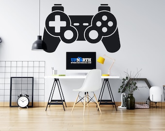 Video Game Controller - PS4 Style Controller - Custom Vinyl Wall or Vehicle Decal - Multiple Sizes and Colors - Free Shipping