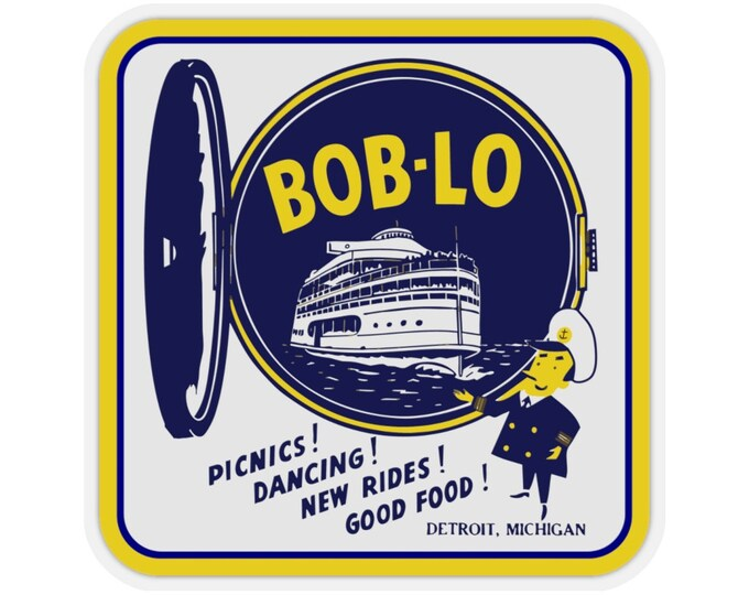 UpNorth Stickers - Boblo Island - Port Hole (Vintage Michigan Collection)