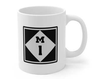 Ceramic Mug - M1- Woodward Ave  - Michigan Roads and Highways - Coffee Cup
