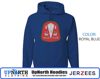 UpNorth Hoodie - Hudson Car Company - Hooded Pullover Sweatshirt - Michigan Hoodie - Tall Sizes Available