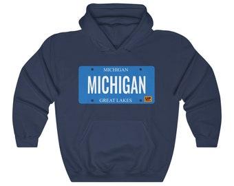 Hooded Sweatshirt - MICHIGAN (License Plate)