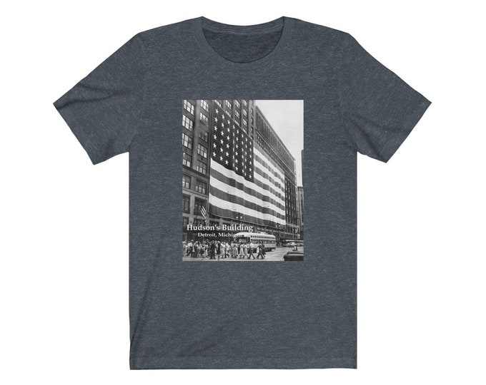 UpNorth Tee - Hudson's American Flag (Michigan Vintage Collection) - Downtown Detroit Michigan - Hudson's Department Store