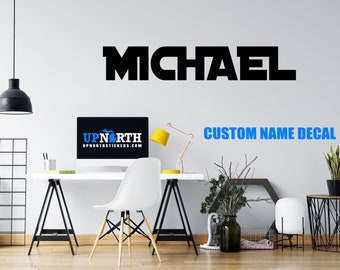 Custom Name Decal - Distant Galaxy Font - Personalized Wall or Vehicle Decal - Free Shipping