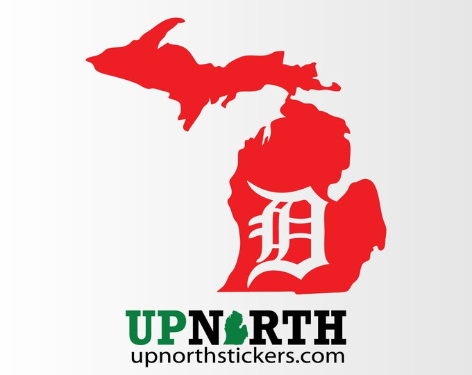Mitten with a D - Michigan - Old English D - Detroit - Multiple Sizes