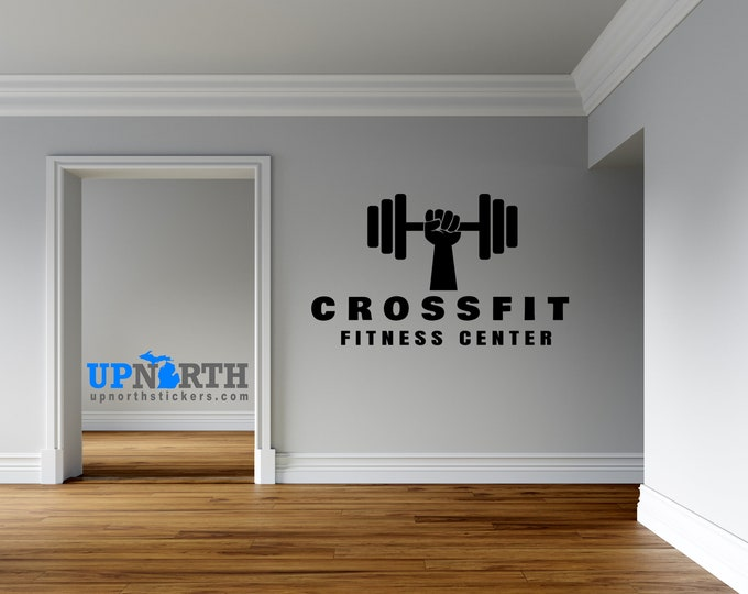 Personalized Fitness Weights or Crossfit Custom Decal - Vinyl Wall Decal - Multiple Sizes and Colors - Personalize for Free - Free Shipping