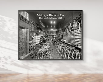 Photo Print - Metzger Bicycle Shop - Downtown Detroit - Detroit Michigan - FREE SHIPPING