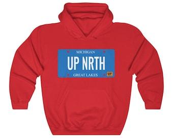 Hooded Sweatshirt - UP NRTH (License Plate)
