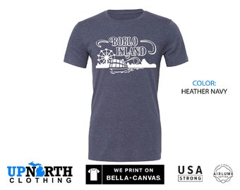 UpNorth Tee - Boblo Island Amusment Park - Bob-Lo Boat - Detroit Michigan Shirt - Free Shipping
