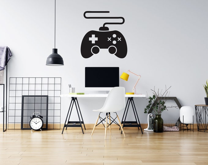 Game Controller - Custom Vinyl Wall or Vehicle Decal - Multiple Sizes and Colors - Free Shipping