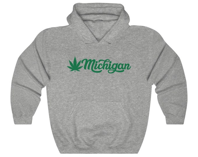 Hooded Sweatshirt - Michigan Marijuana (green)