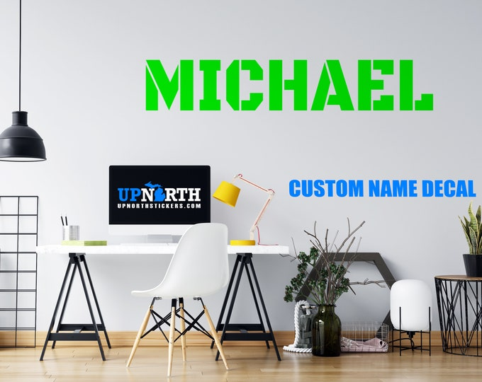 Custom Name Decal - Black Ops Font - Personalized Wall or Vehicle Decal - Free Shipping