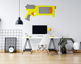 Nerf Style Toy Gun - Vinyl Wall Decal - Multiple Sizes and Colors - Free Customization