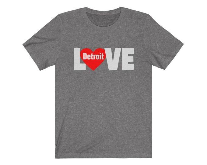 UpNorth Tee - Detroit Love Heart (Standard Print) - Detroit Michigan Shirt