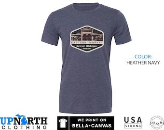 UpNorth Tee -Eastern Market - Detroit Farmers Market Shirt  - Detroit Michigan T-Shirt - Free Shipping