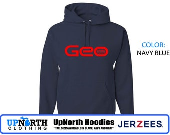 UpNorth Hoodie - Geo - Defunct Companies - Hooded Pullover Sweatshirt - Michigan Hoodie - Tall Sizes Available