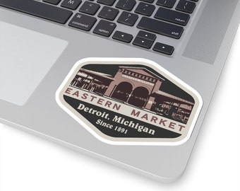 UpNorth Stickers - Eastern Market - Detroit Market - Detroit MIchigan - 4 Sizes to Choose From