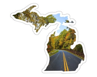 UpNorth Stickers - Country Road - Michigan Decal