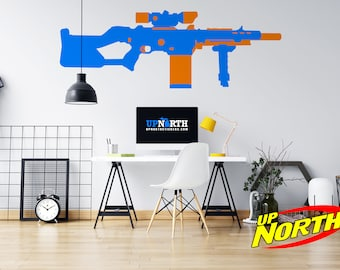 Sniper - Foam Dart Gun - Custom Vinyl Wall Decal - Free Shipping