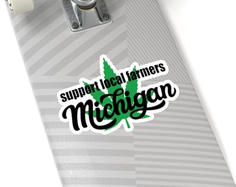 Stickers - Support Local Farmers - Michigan Marijuana