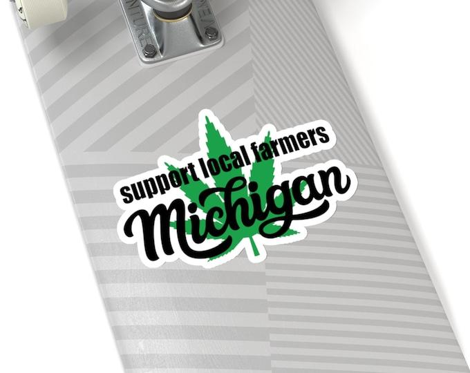 Stickers - Support Local Farmers - Michigan Marijuana