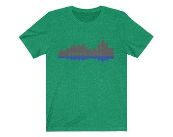 Premium Tee - Detroit Skyline (blue/gray)