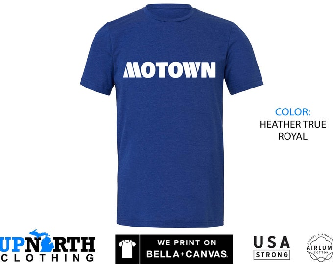 UpNorth Tee - Motown - Detroit Michigan - Shirt - Free Shipping