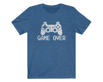 UpNorth Tee - Game Over - Video Game Controller (Vintage Print) Gamer Edition Shirt