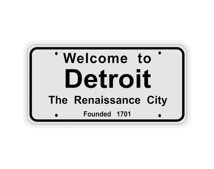 UpNorth Stickers - Welcome to Detroit (Vintage Michigan Collection)