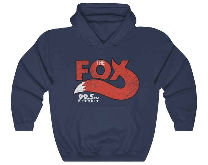 UpNorth Hoodies - The Fox - 99.5 - Detroit Radio - Vintage Print