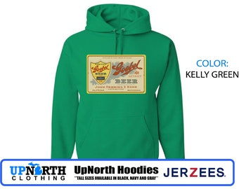UpNorth Hoodie - Goebel Beer - Vintage Brewery - Hooded Pullover Sweatshirt - Detroit Michigan - Tall Sizes Available