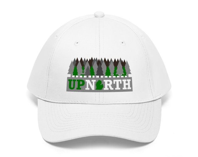 Adjustable Hat - Up North Michigan - Forest