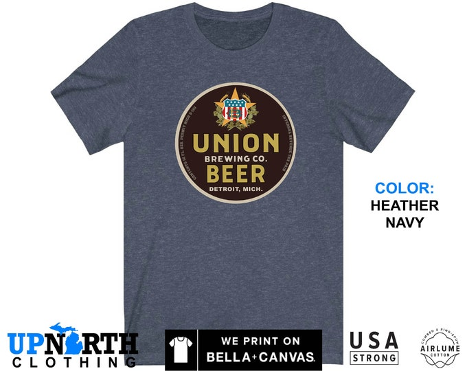 UpNorth Tee - Union Beer - Vintage Brewery - Vintage Michigan Beer Shirt - Free Shipping