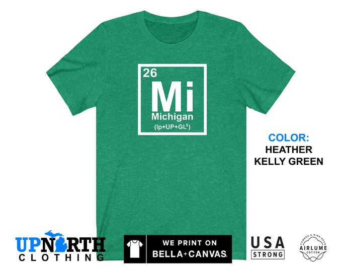 UpNorth Tee - Michigan Element - MI - Michigan Shirt - Free Shipping